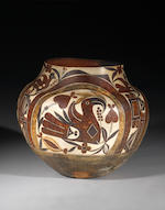 An Acoma polychrome storage jar