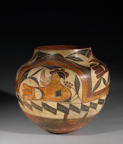 An Acoma polychrome storage jar