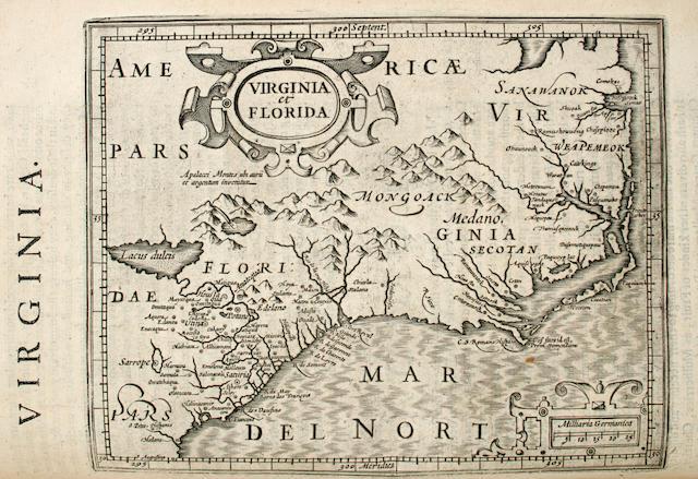 MERCATOR, GERARD. 1512-1594, & JODOCUS HONDIUS. 1563-1611.