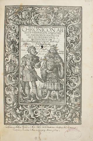 BURCHARDUS, URSPERGENSIS. C. 1177-1231.