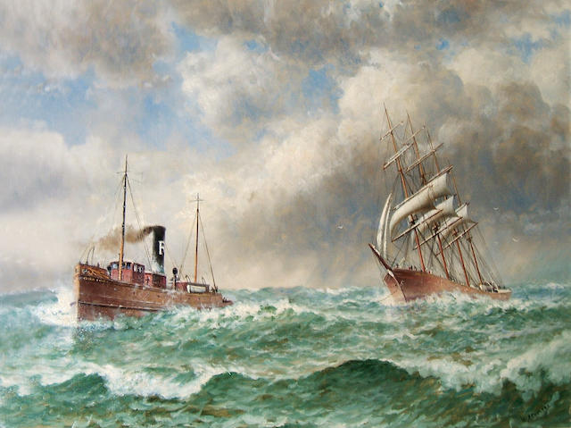 William Alexander Coulter (1849-1936) Storm King Assists Golden Gate 30 x 40in