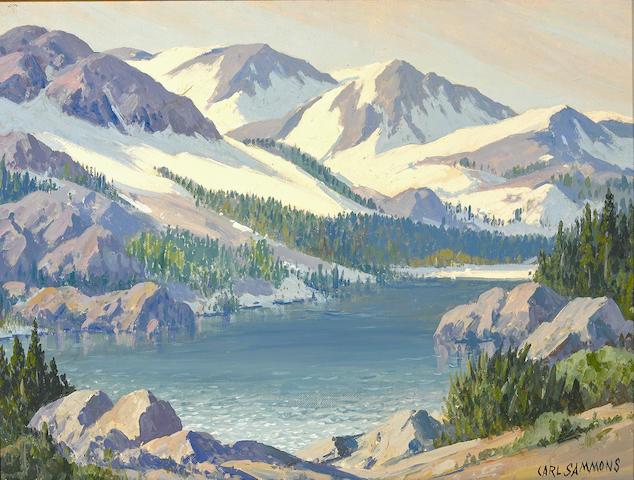 Carl Sammons (1883-1968) Lake Sabrina, High Sierra, California 12 x 16in