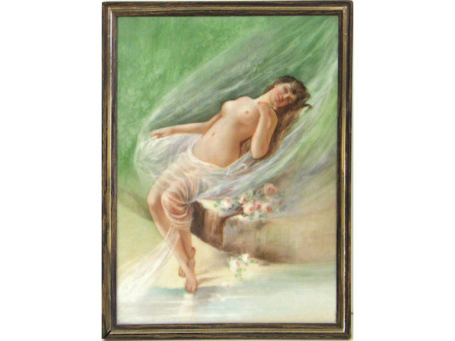 A Limoges porcelain plaque, early 20th-century