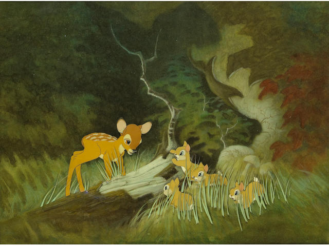 "A Walt Disney celluloid from "" Bambi"""
