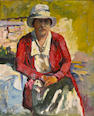 August Gay (1890-1948)  Madame Vrooman 24 x 20in