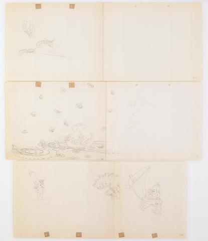 "Bonhams : Three Walt Disney animation drawings from ""Water Babies"""