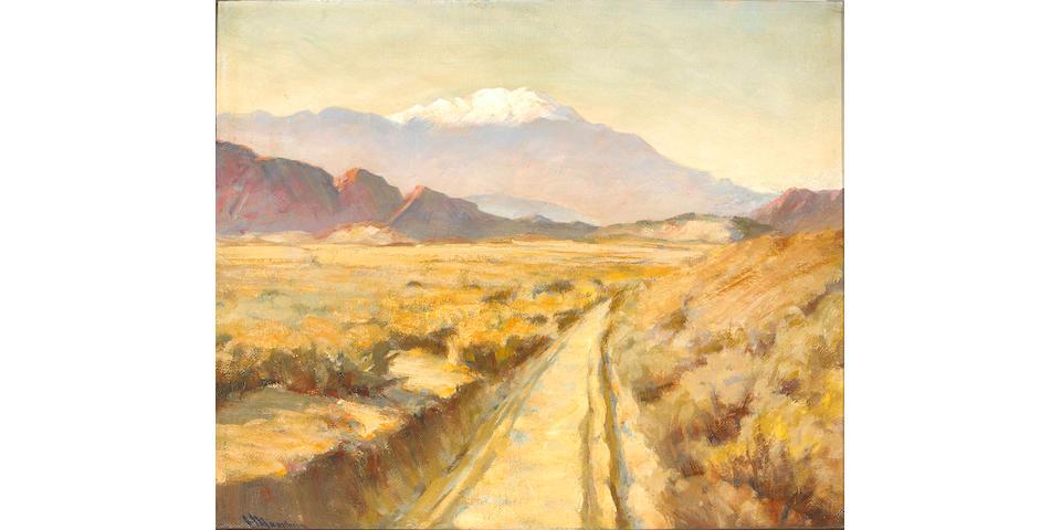 Jean Mannheim (1863-1945) Desert Road 20 x 24in