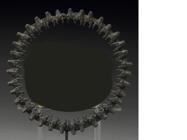 A Cameroon Grasslands bronze prestige collar