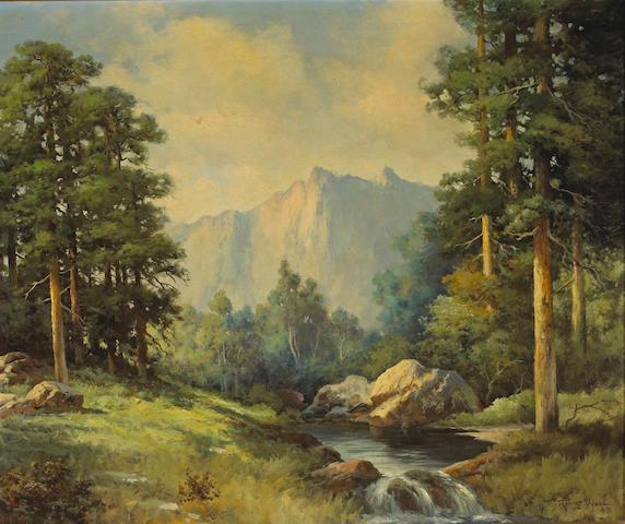 Robert Wood (1889-1979) Yosemite Valley, 1943 25 x 30in