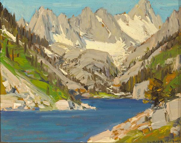 Alfred R. Mitchell (1888-1972) Lake Sabrina 8 x 9 3/4in