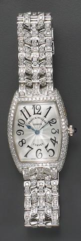 A diamond and eighteen karat gold wristwatch, Franck Muller