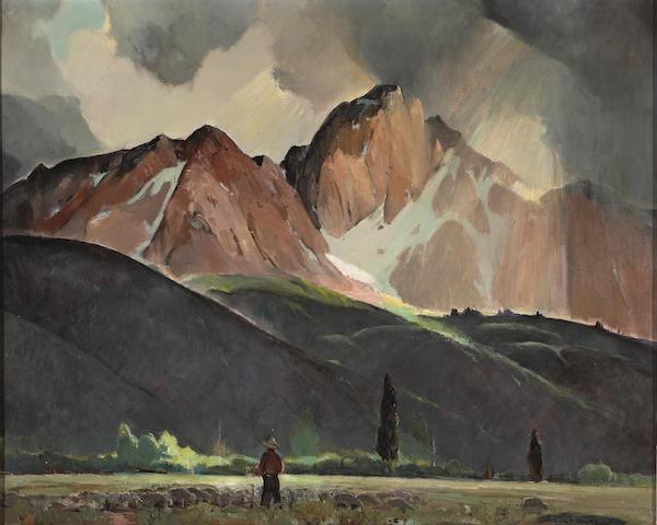 Orrin A. White (1883-1969) High Sierra Storm 26 x 32 1/4in