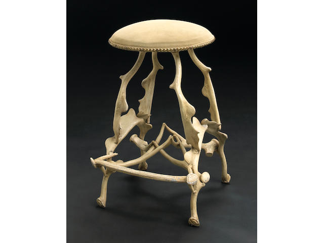 A John Dickinson powder coated cast-iron 'Antler' stool