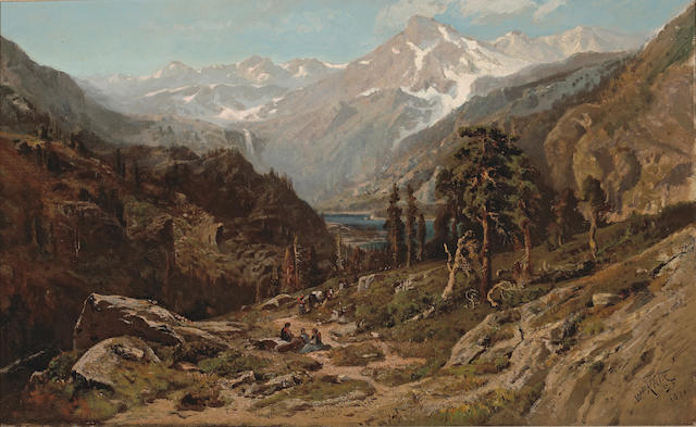 William Keith (1838-1911) High Sierra Canyon, 1876 18 x 28 3/4in