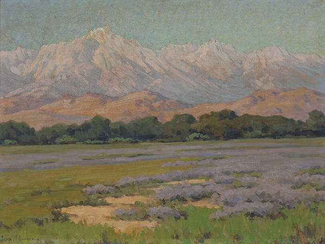 John Marshall Gamble (1863-1957) High Sierras from Lone Pine 18 x 24in