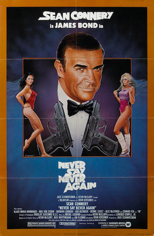 A group of three James Bond one-sheet posters