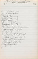 A Mary Ford guestbook from The Hollywood Canteen signed by countless stars