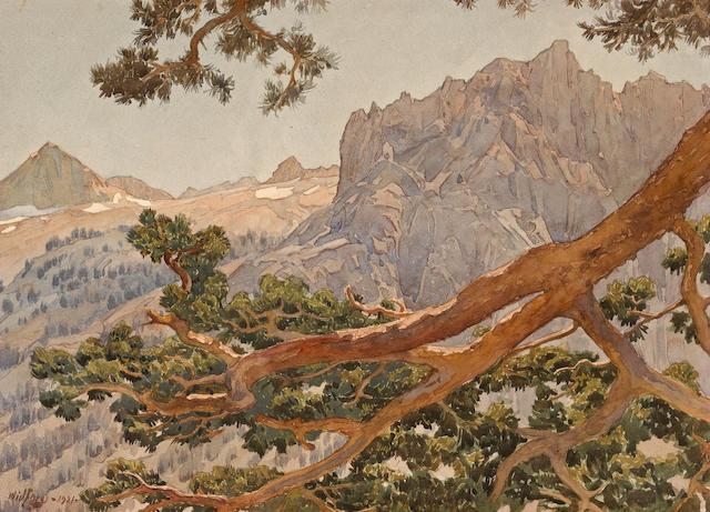 Gunnar Widforss (1879-1934) High Sierra, 1921 9 x 12 1/2in