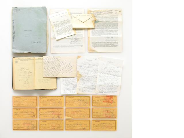 A Warren Beatty archive of personal papers, 1957-1959