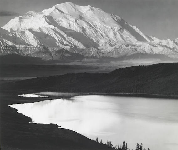 Ansel Adams; Mt. McKinley and Wonder Lake, Alaska;