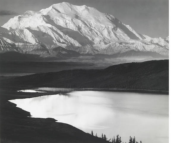 Ansel Adams Mt. McKinley and Wonder Lake silver print;