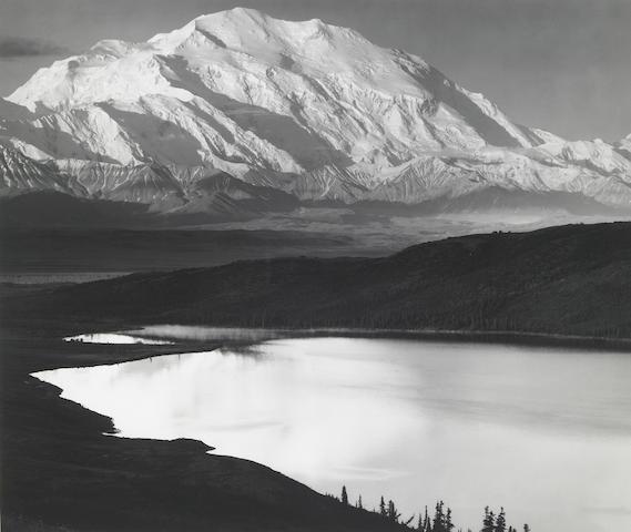 Ansel Adams Mt. McKinley and Wonder Lake silver print;