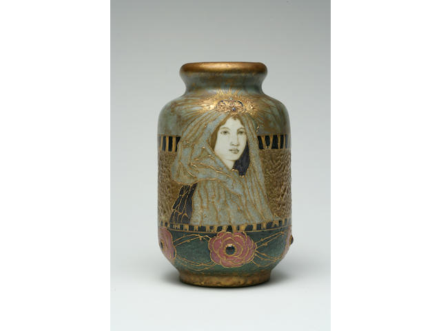 An Amphora glazed and painted porcelain portrait vase: Fairy Tale Princess