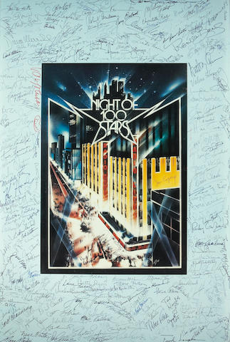 "A poster from ""Night of 100 Stars"""
