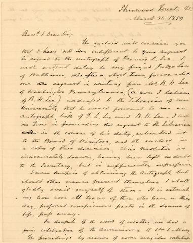 TYLER, JOHN. 1790-1862.