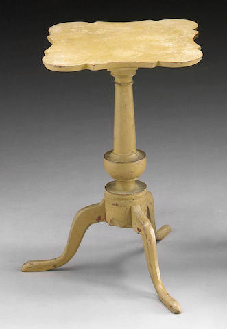 A Federal cream painted candlestand