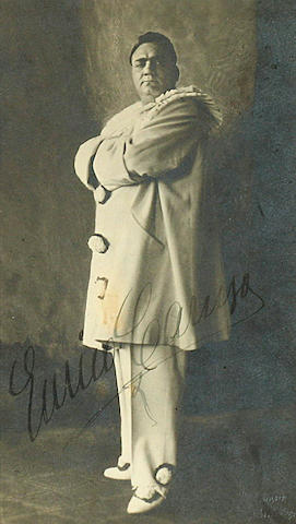 CARUSO, ENRICO.  1873-1921.