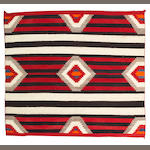 A Navajo chief's style weaving, 4ft 3in x 4ft 8in