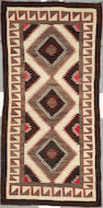 A Navajo Red Mesa runner, 7ft 11in x 3ft 11in