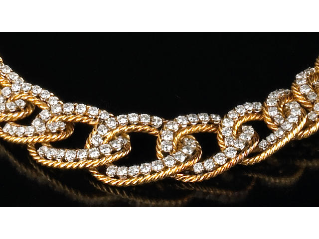 A diamond and eighteen karat gold necklace, Boucheron