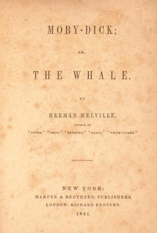 MELVILLE, HERMAN. 1819-1891.