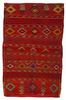 A Navajo transitional/late classic child's blanket, 4ft 5in x 2ft 10in