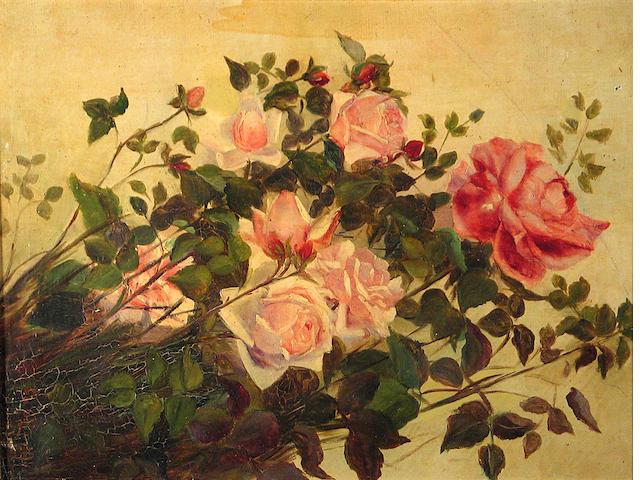 George Cochran Lambdin (1830-1896) Roses 24 x 18in