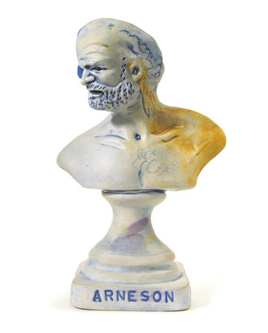 PENDING AUTHENTICATION Robert Arneson Self Portrait 1981 cast and glazed earthenware stamped