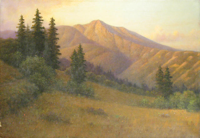 William Barr (British/American, 1867-1933) A View of Mount Tamalpais from a Clearing 20 x 30in (unframed)