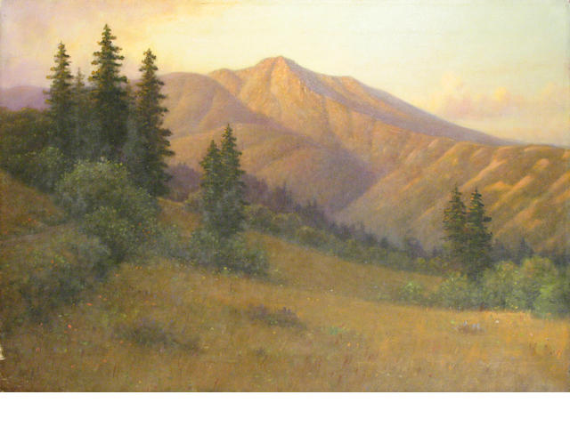 William Barr (1867-1933) Mt. Tamalpais oil on canvas unsigned