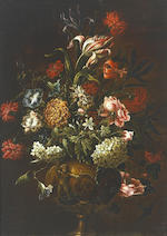School of Andrea Belvedere (Italian, 1642-1732) a pair of Still lifes both oil on canvas