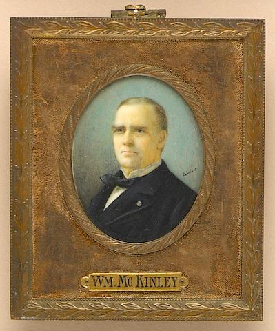 A portrait miniature of William McKinley (1843–1901)