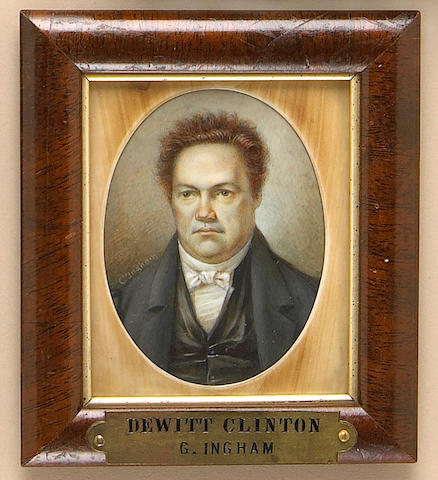 A portrait miniature of DeWitt Clinton (1769-1828)