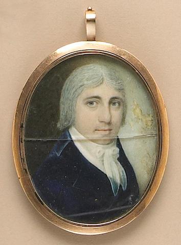 A portrait miniature of a gentleman