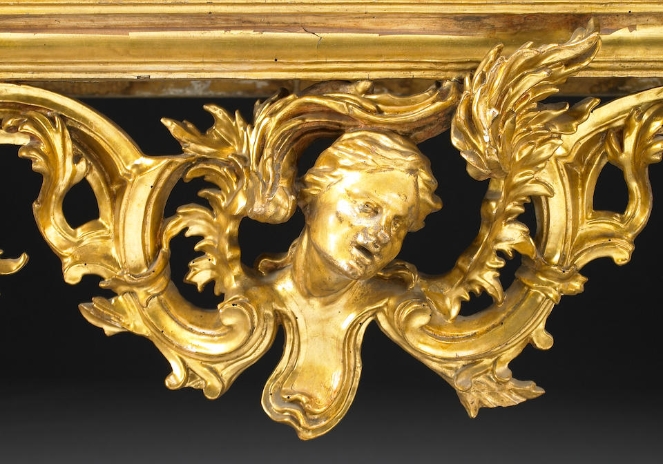 A fine Roman Baroque giltwood console table