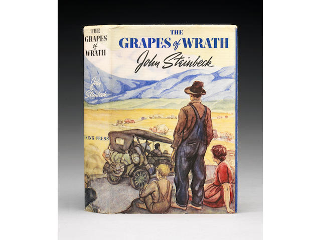 The Grapes of Wrath.  NY, [1939].  Inscribed to sister Beth.