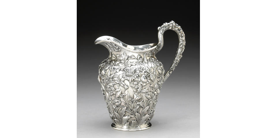 Sterling Floral Chased Water Pitcher by S. Kirk & Son Co.