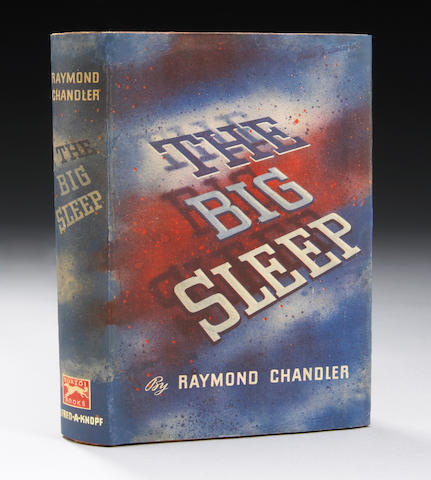Chandler, Raymon.  The Big Sleep.  ist Ed. with jacket partially restored.