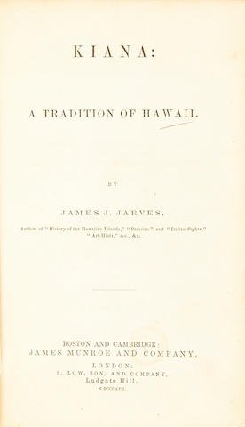 JARVES, JAMES JACKSON, 1818-88.