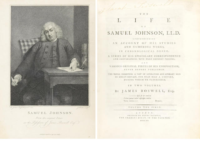BOSWELL, JAMES.  1740-1795.
